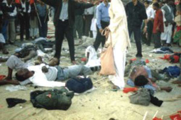 Bomb blasts at CPB rally Januray 2001