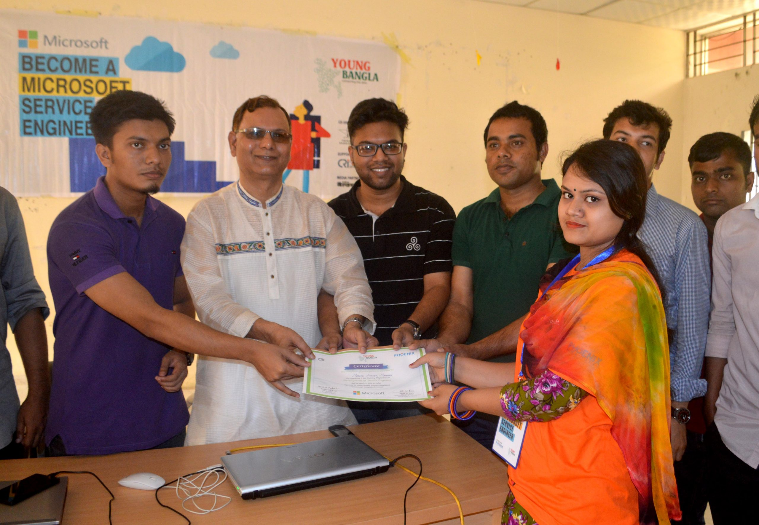 Young Bangla Continues Microsoft Service Engineer Development Program in Sylhet