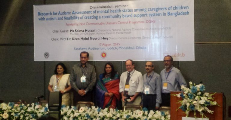CRI at Seminar on Autism by ICDDR,B and DGHS