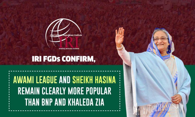 IRI FGDs: AL and Sheikh Hasina More Popular Than BNP and Khaleda Zia